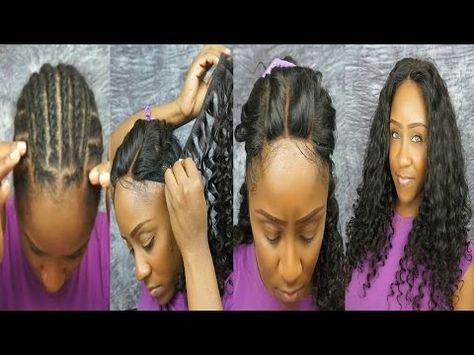 Full Head Weave w/Closure - Sew In - Step by Step - YouTube