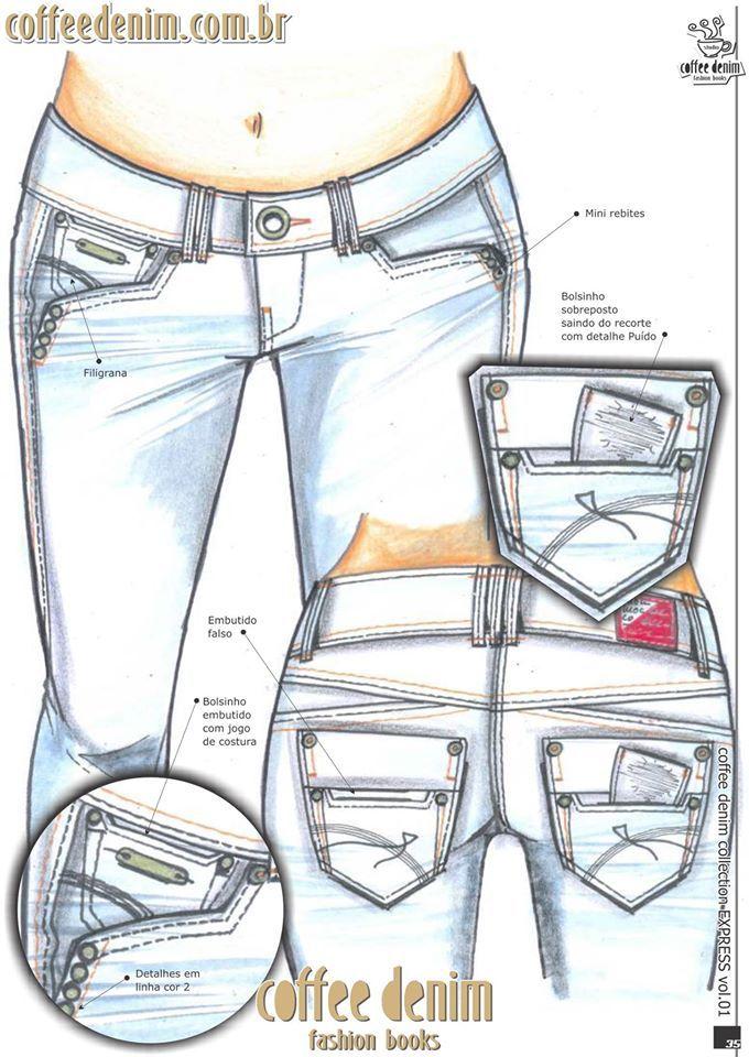 Diseño dama | Pockets | Pinterest | Jeans, Denim y Denim jeans