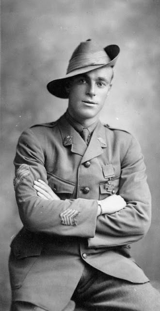 WWI: Private Reginald Roy Inwood, VC, from Adelaide Australia - Found via The Passion of Former Days. Also a Victoria Cross recipient for valour in battle in September 1917 at Polygon Wood, Belgium.