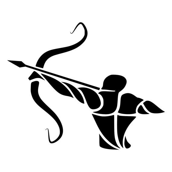 Archer Die-Cut Decal Car Window Wall Bumper by BeeMountainGraphics
