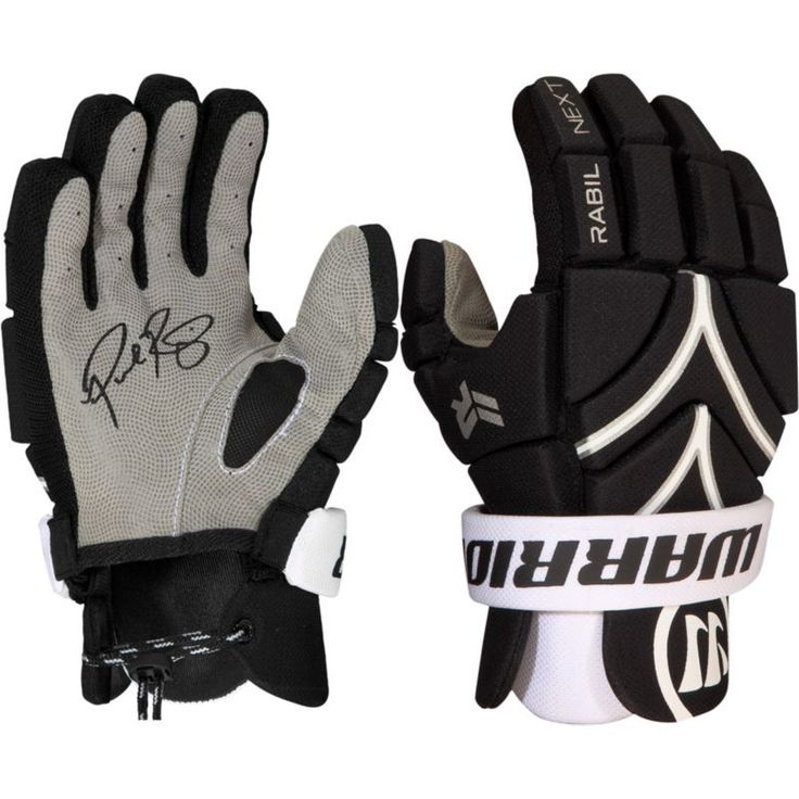 Warrior Youth Rabil Next Lacrosse Gloves, Black