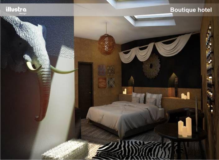 hotel rander boutique hotel room 3d design