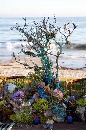 ocean themed flower arrangements   triciafountainedesign.com