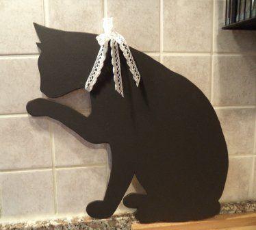 Gatto nero.. chi dice che porta sfortuna!!!! Lavagnetta cucina o cameretta , by Le signore della cascina, 14,00 € su misshobby.com