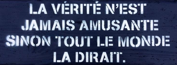 Citation en pochoir sur bois flotté  Michel Audiard