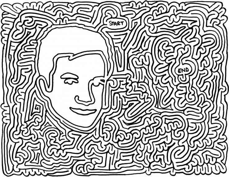 how to draw a maze