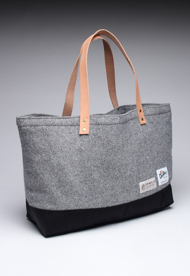 Tweed + Leather Tote