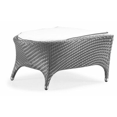 Orren Ellis Cavandale Foot Stool with Cushion Fabric: Sunproof White, Finish: Taupe