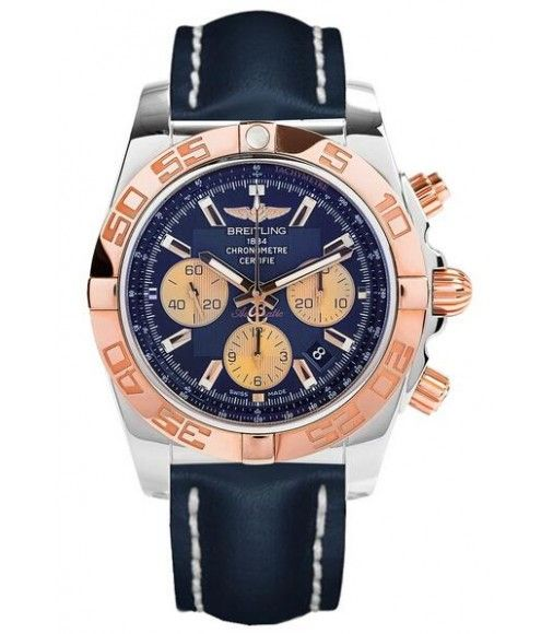 Breitling Chronomat 44 Blue Leather Strap Watch review - AAA replica watches avaliable for you