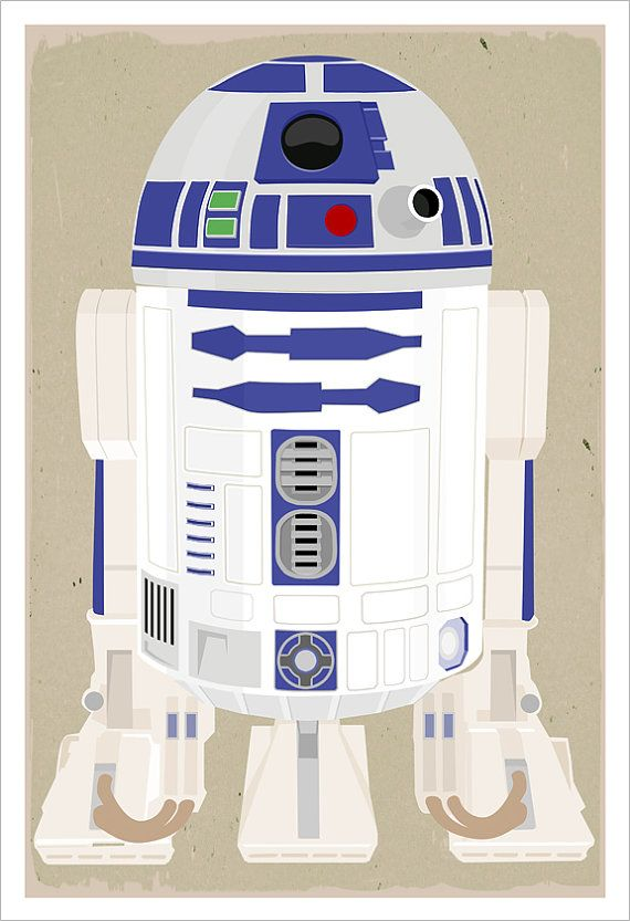 Star Wars Poster R2d2 Poster 13 Quot X19 Quot Or Large 24 Quot X36