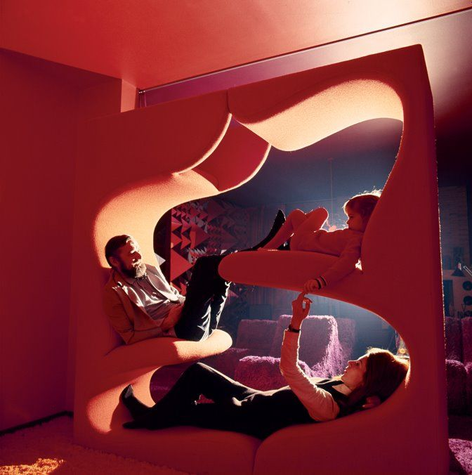 Verner Panton's Living Tower (1968) - From Creatures of Comfort's amazing blog.