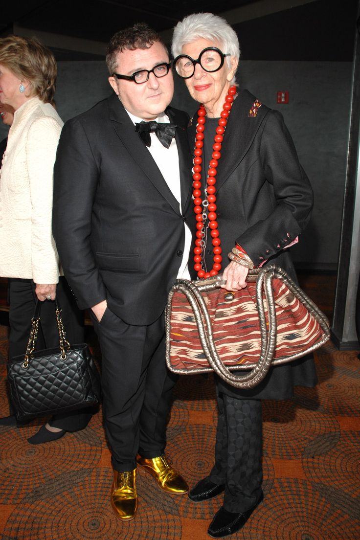 With Alber Elbaz at FIT Couture Council Luncheon honoring Elbaz at Rainbow Room in New York in 2007.