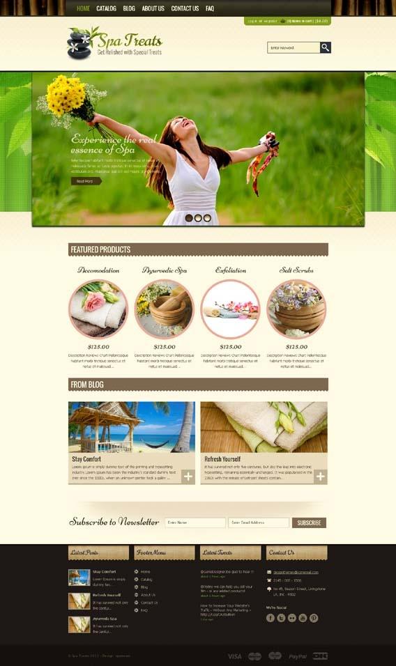 Spa Treats Shopify Premium SPA Salon Health