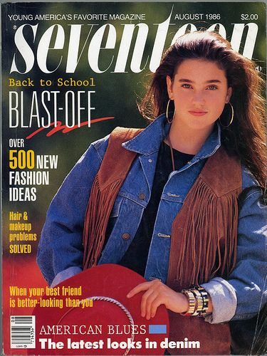 Seventeen Magazine, August 1985.  My senior year of high school. I spent HOURS looking at these back-to-school issues!