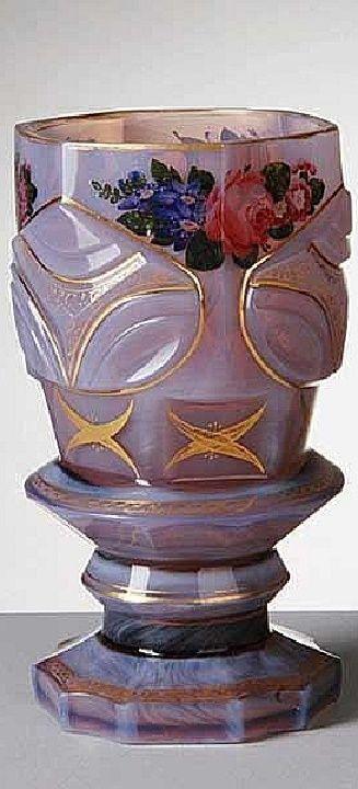 Biedermeier Cup - Agatin glass