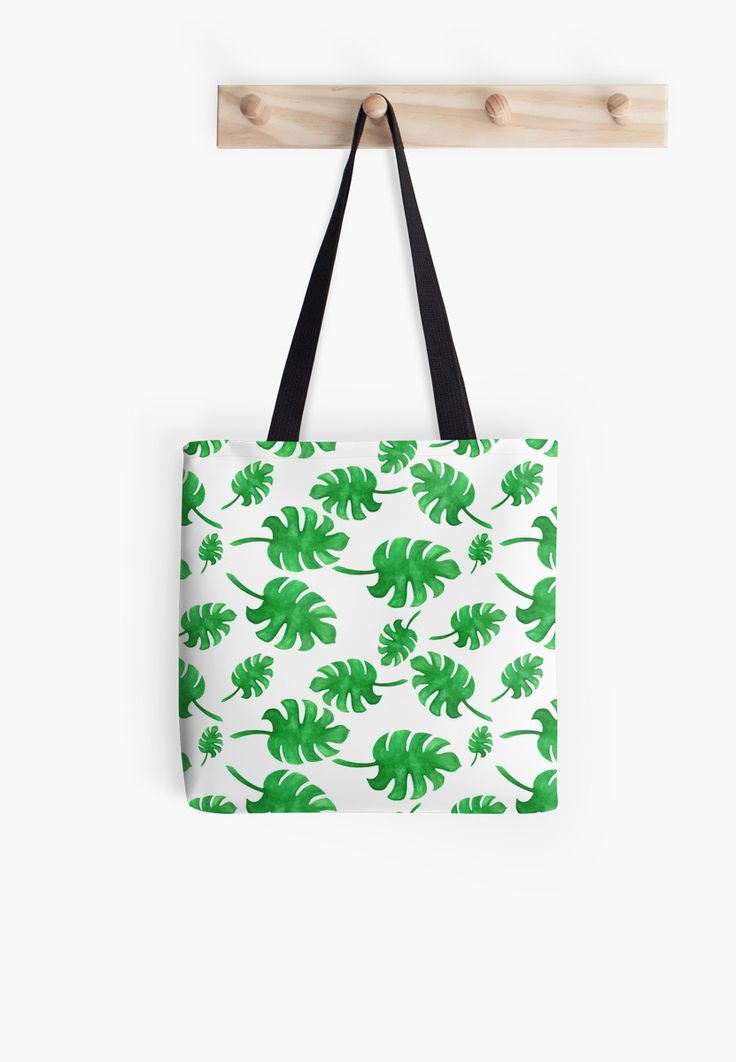 Seamless pattern of palm leaves painted with watercolors • Also buy this artwork on bags, apparel, phone cases, and more.