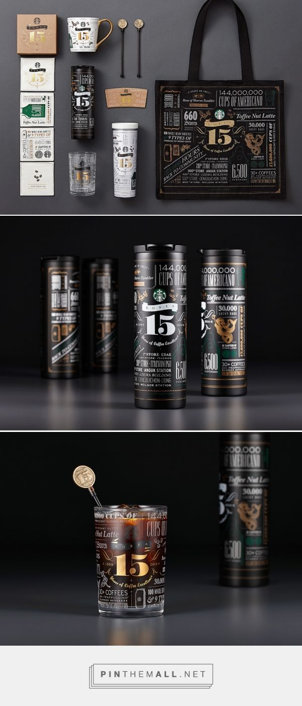 Starbucks #Korea's 15th anniversary #packaging #design by De Yool Studio - http://www.packagingoftheworld.com/2017/01/15-years-of-coffee-excellence-starbucks.html