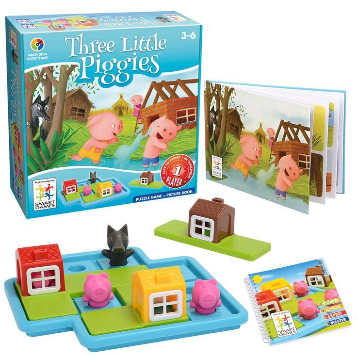 SmartGames Three Little Piggies - Kolme pientä porsasta Leikkien