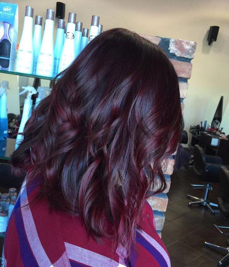 Rojo Vino, Por, Color Violeta Pelo Rojo, Otros, De Color, Peinado, Short Hair Red Balayage, Balayage Red Violet, Violet Red Ombre