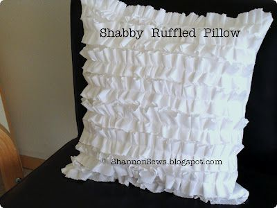 Shabby ruffled pillow