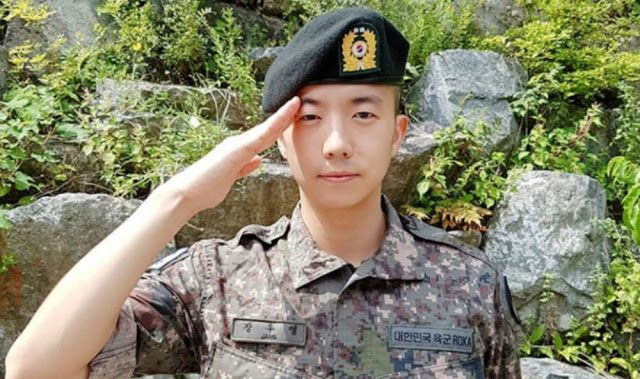 2pm S Wooyoung Completes Basic Military Training As Squadron Leader Kpop Buzz Basic Military Training Military Training Military