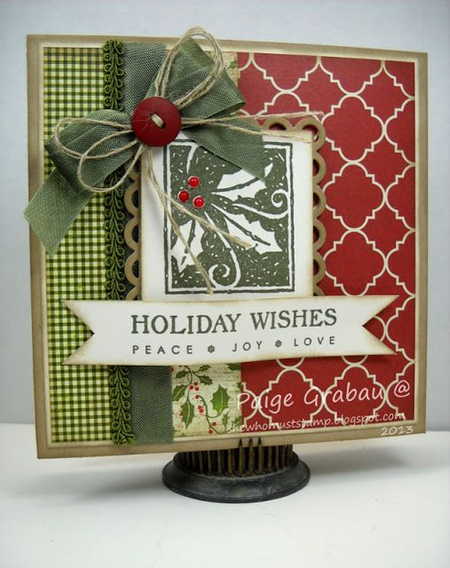 She Who Must Stamp: Holly Jolly: Lots of Layers