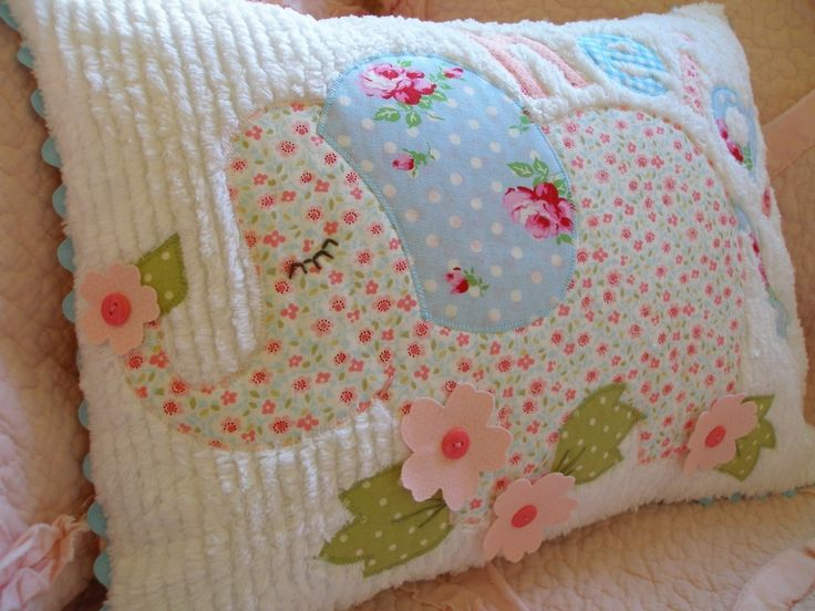 ~ It looks so cozy & soft, I want one! ~ EMMI the elephant pillow by Dianne emmi 's cottage ~