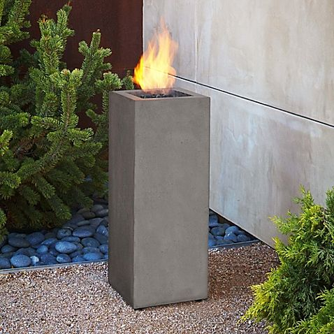 Complete the look of your Baltic Fire Table patio set with the Real Flame Baltic Propane Fire Column. This fire column comes equipped with the lava rock, a lid for coverage when the column is not in use and a door to store the fuel tank.