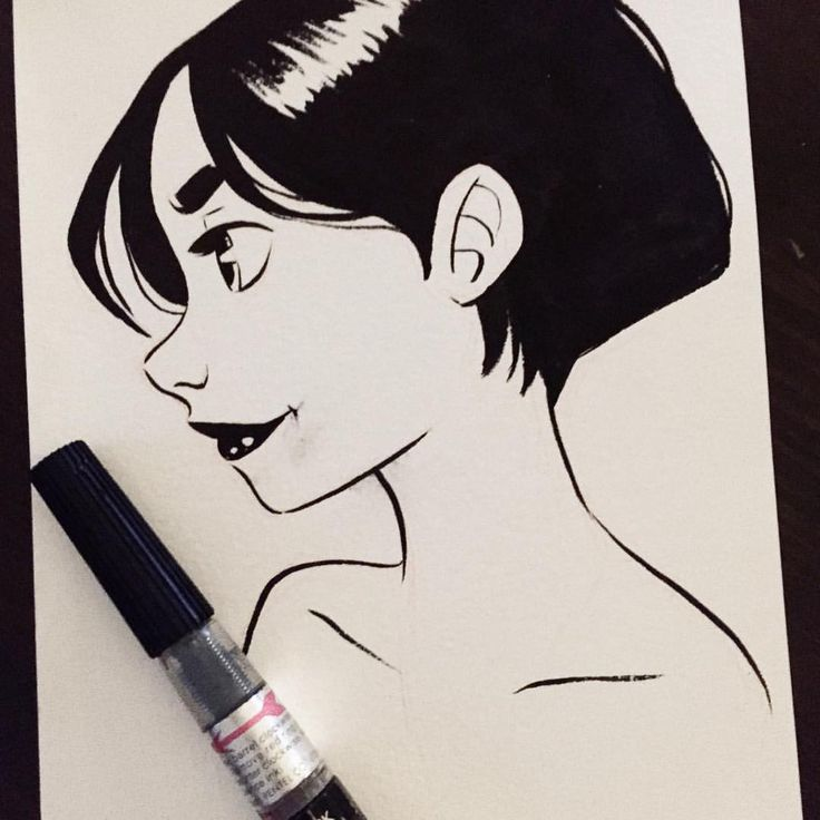 And another #Inktober to catch up ;) #inktober2015 #girlsinanimation #sketch…