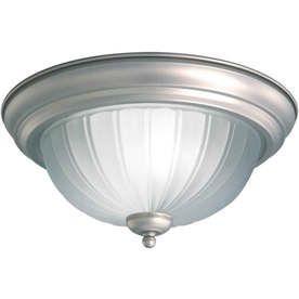 forte lighting 1 light flush mount size finish h x w brushed nickel