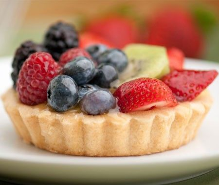 Spring Fruit Tarts Recipe | Pastries, Belle and Custard