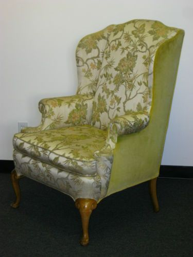 Vintage French Provincial Wingback Arm CHAIR Floral