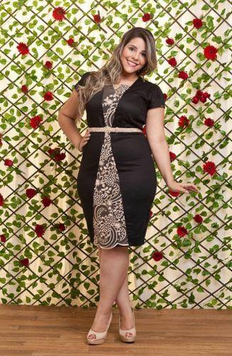 VESTIDO | Roupa de tamanhos grandes, Vestido tubinho plus size, Vestidos