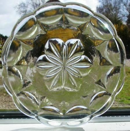 Fyns Glasværk citronassietter presset glas 1924