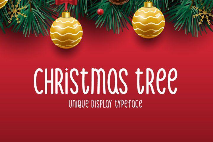 Christmas Tree Christmas Christmasfont Handwritten Handwriting Scriptfont Boldfont Displayfont Typeface Fon In 2020 Christmas Fonts Font Bundles Dingbat Fonts