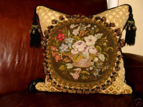 Victorian Era Pillows : 104 best images about Needlepoint Love on Pinterest Wool, Black forest and Tapestries