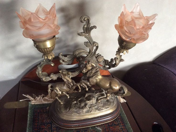 Wonderful horse lamp from Auction
