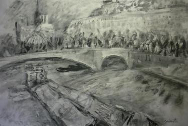 """Saatchi Art Artist Manlio Rondoni; Painting, """"Parigi - Pont de la Tournelle"""" #art"""