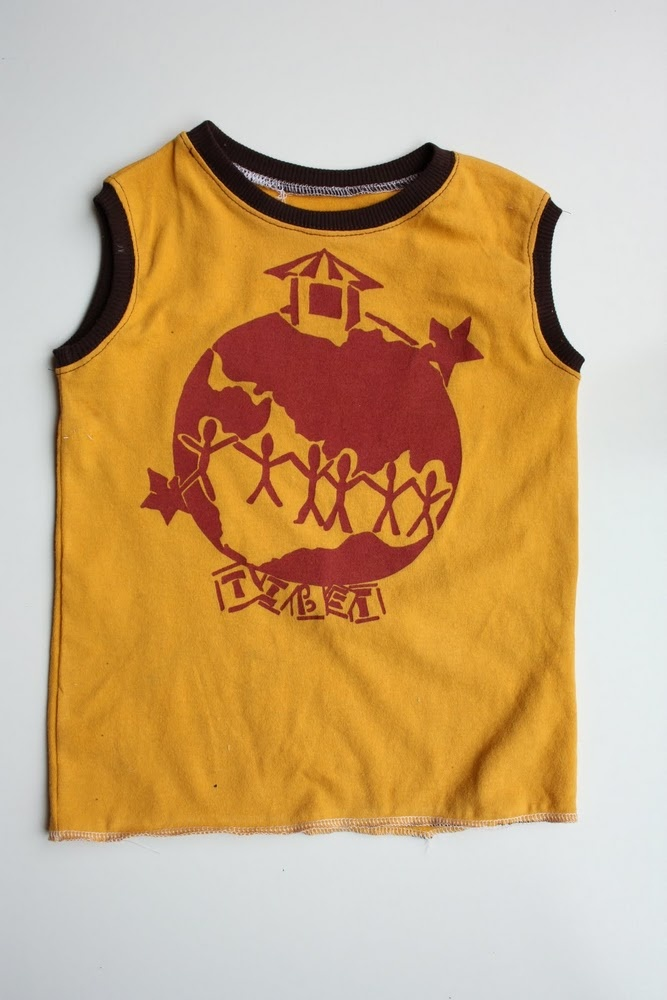 Boy's muscle shirt tutorial. What a great way to use old t-shirts!