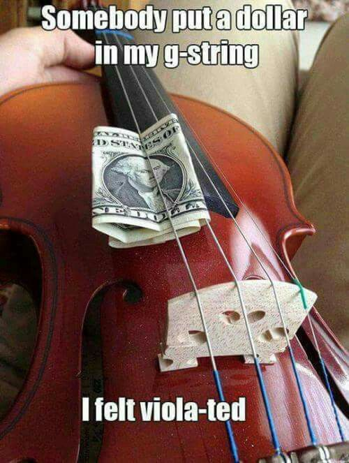 Only orchestra kids will get this... does this mean that the pic is a viola.... if so that is not the G string it's the C