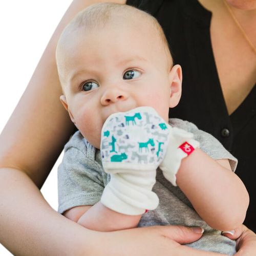 Infant eczema mittens by GoumiKids.