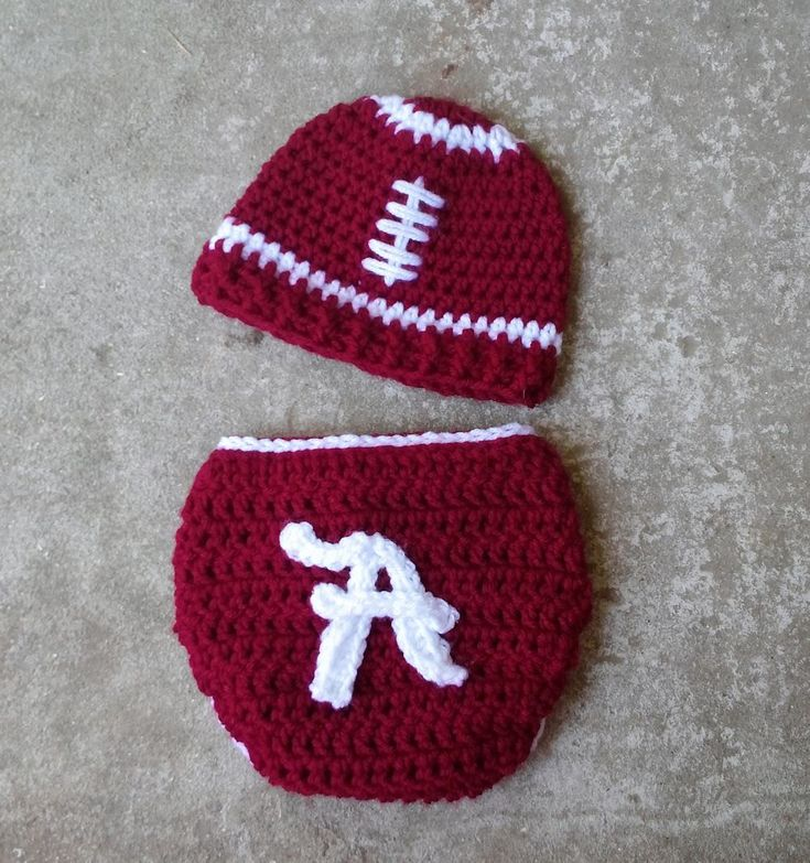 Alabama Football Hat Diaper Cover Set by BitofWhimsyCrochet, $ 36.99   – Things I want on etsy