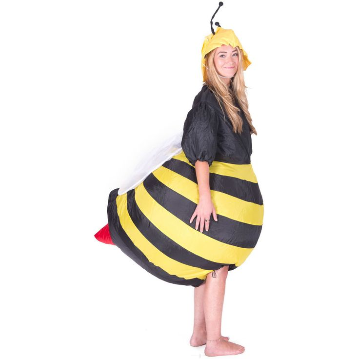 INFLATABLE BEE ADULT FANCY DRESS COSTUME STAG NIGHT OUTFIT
