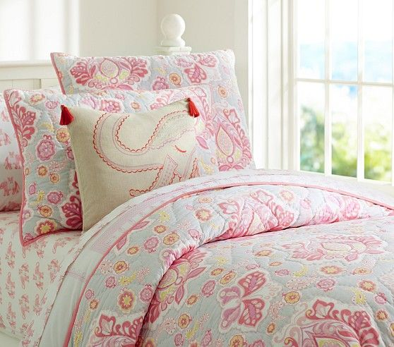 Elyse Quilted Bedding Pottery Barn Kids Big Girl Room