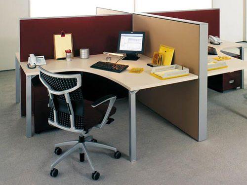 Floor-mounted desk partition / fabric NEWS by Alberto Stella ESTEL