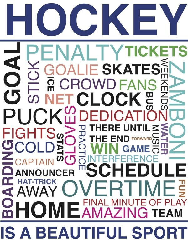 Hockey-would like to have this framed for my husbands sports room.