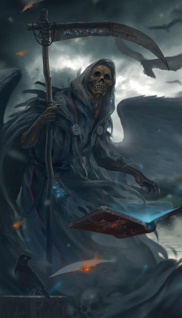 undead necromancer with scythe
