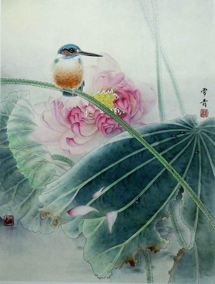 Письмо «сообщение Decor_Rospis : Зимородок и цветок Лотоса. Урок от Gong Xueqing. (07:46 20-10-2015) [4742292/374650896]» — Decor_Rospis — Яндекс.Почта