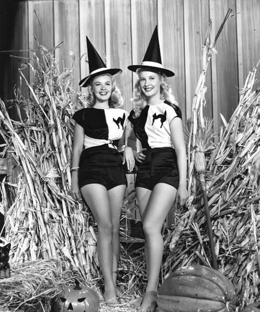 Vintage Pin-Up Photos for Halloween