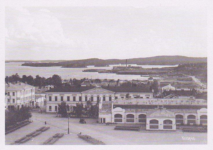 Kuopio: Kauppahalli v. 1931, kuvaaja: Lauri Marjanen. Facebook/Vintage Kuopio, kuva: Kaisa Törmänen